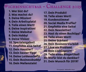 sichtbar 2019 facebook challenge