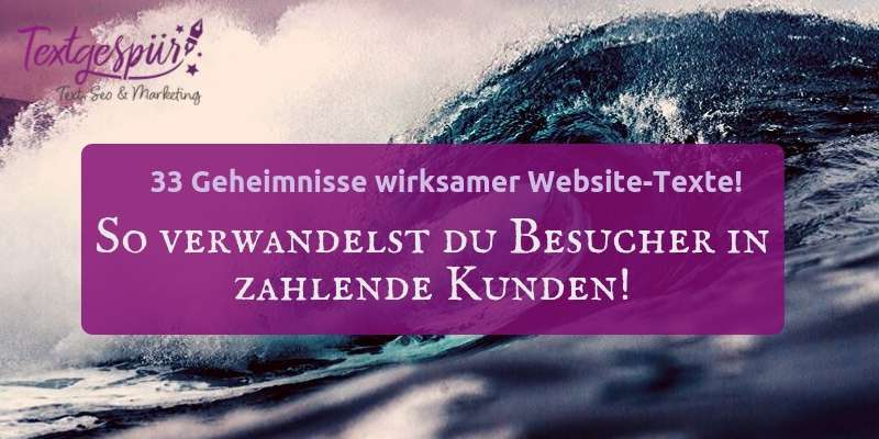 website texten