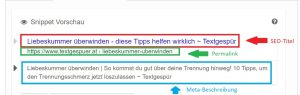 website texten seo titel